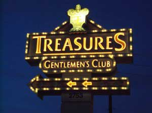 Treasures - A great <em>Las Vegas Strip club with a premier Steakhouse</em>