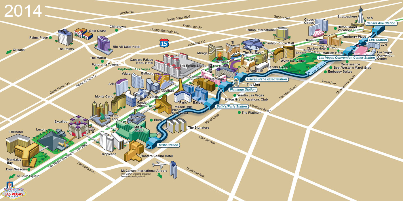 Casino map las vegas strip